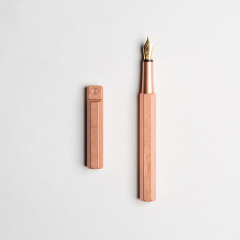 Ystudio Portable Fountain Pen Brass