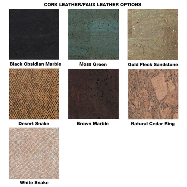 Vegan leather faux leather colour chart