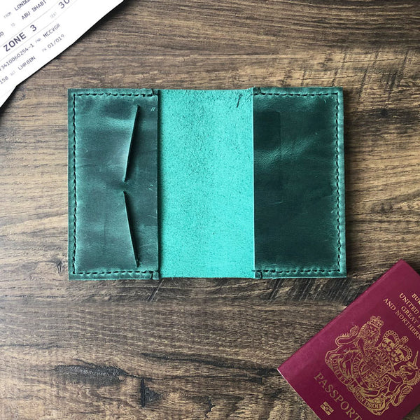 Personalized Leather Passport Cover | Custom Passport Holder