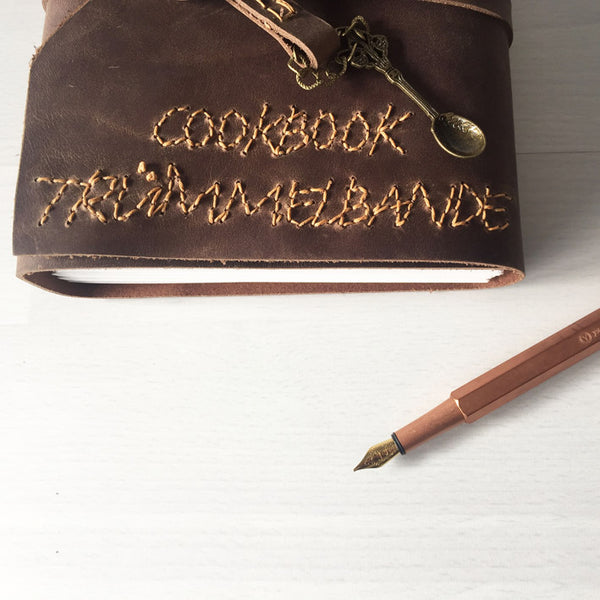Chef gifts custom recipe book with hand stitched family name