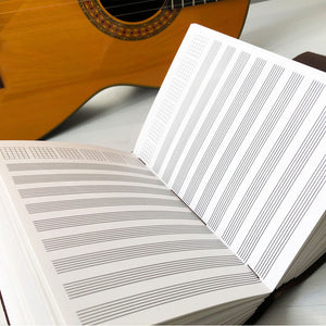 Guitar notation paper journal