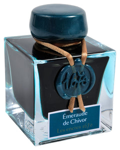 J Herbin 1670 Emerald of Chivor Fountain Pen Ink  Ink Bottle Box