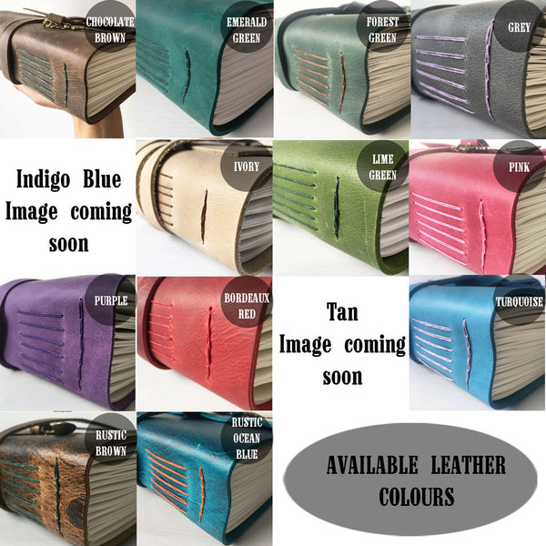Indigo Artisans Colour Chart of Available Leather Colours
