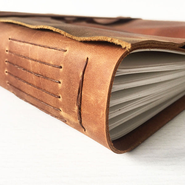 Large leather journal side