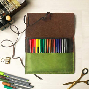 Leather Pen Case & Planner Pouch