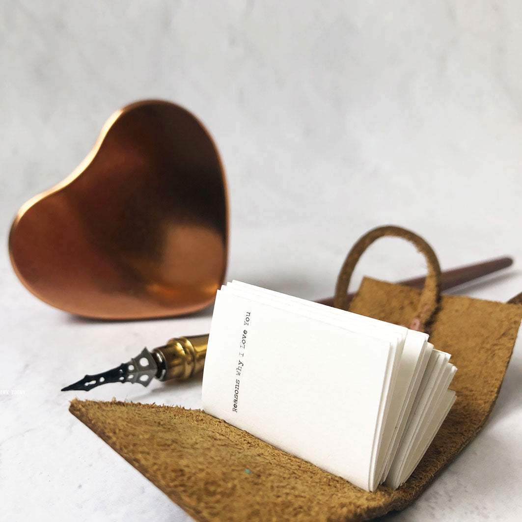 Reasons Why I Love You Personalised Miniature Book