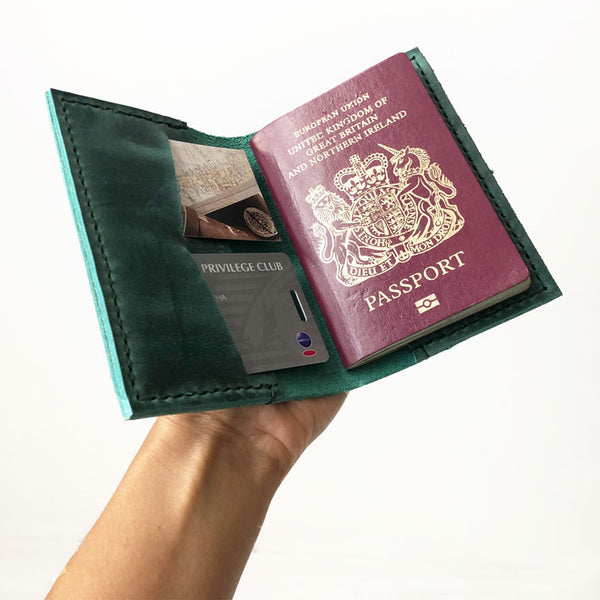 Leather Passport Cover | Personalized Passport Holder