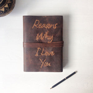 Anniversary Gifts | Reasons Why I Love You | A5 Leather Journal