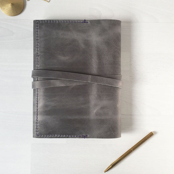 Leather notebook cover back