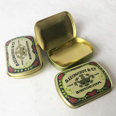mini tins with lid, set of 3