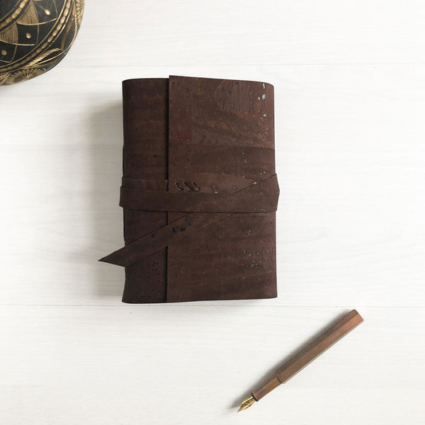 Custom made faux leather journal, notebook