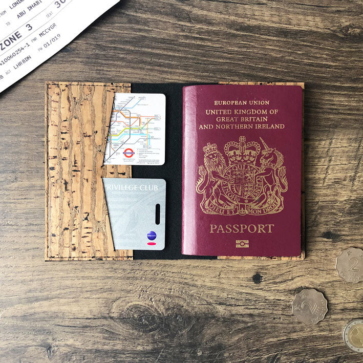 Faux leather passport cover