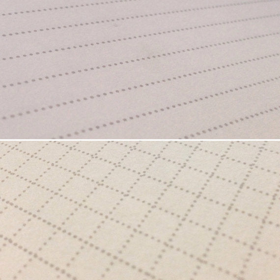 Lined and grid printed pages