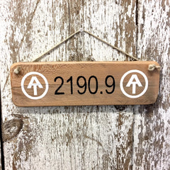 Appalachian Trail 2190.9 Reclaimed Wood Sign