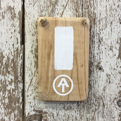 Appalachian Trail White Blaze Reclaimed Wood Sign Handpainted