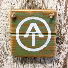 Appalachian Trail Circle Reclaimed Wood Sign