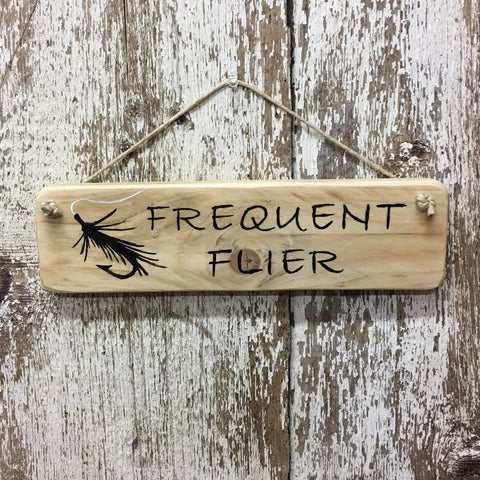 fly fishing signs frequent flier reclaimed wood sign for fisherman