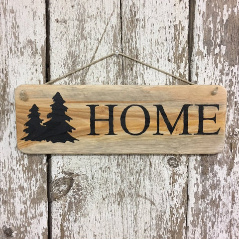home sign rustic home decor hanging wood signs for cabin lodge