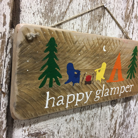 glamping decor and gift ideas happy glamper wood sign