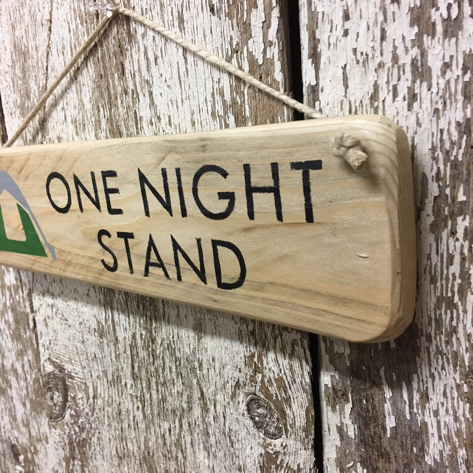 tent camping sign cool unique camping gift ideas one night stand