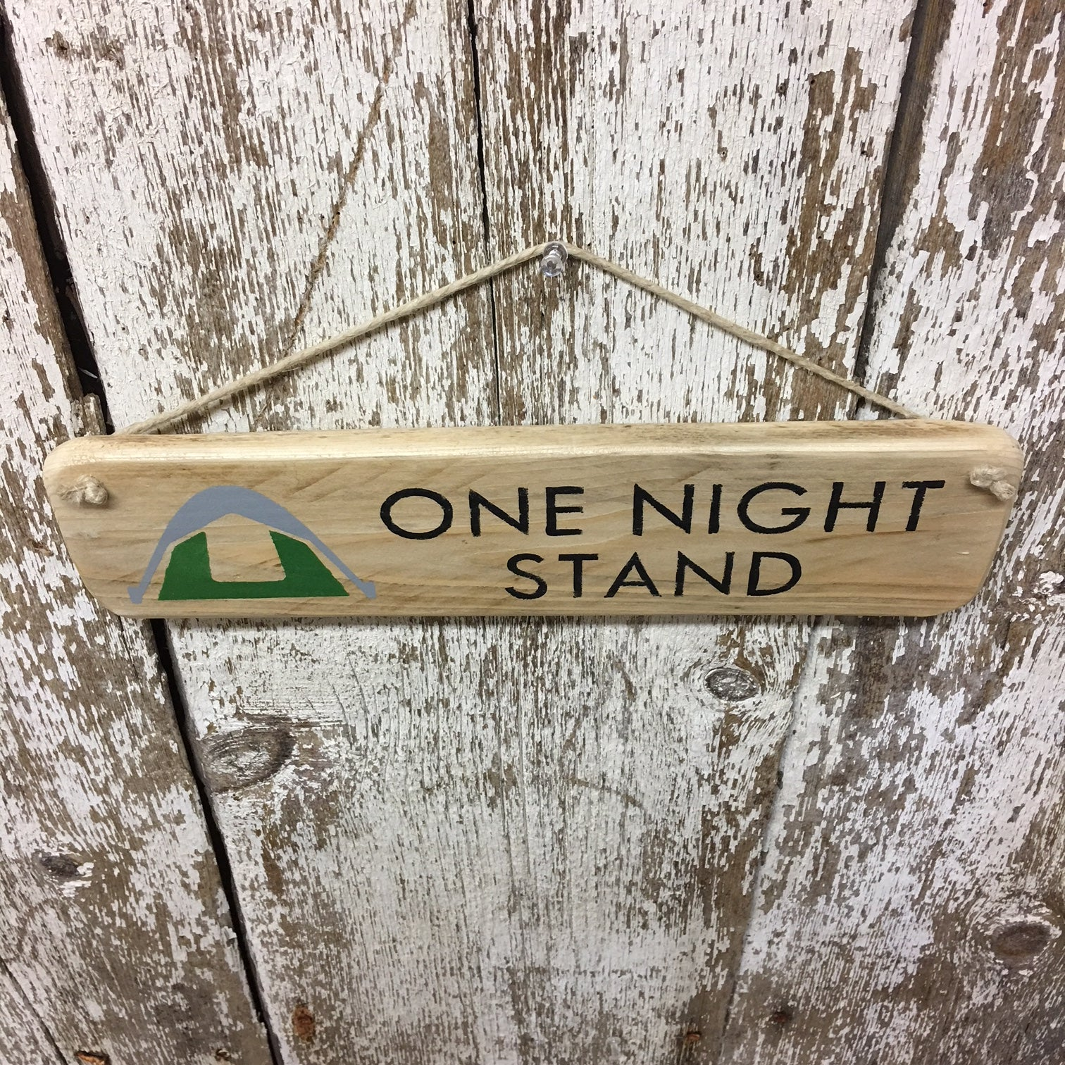 signs for tent camping hiker cool funny unique one night stand sign