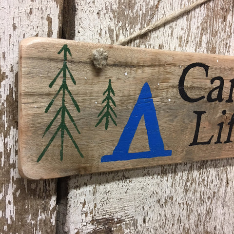 camping sign ideas campfire tent chairs family signs