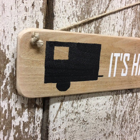 squaredrop camper square drop camping wooden sign funny