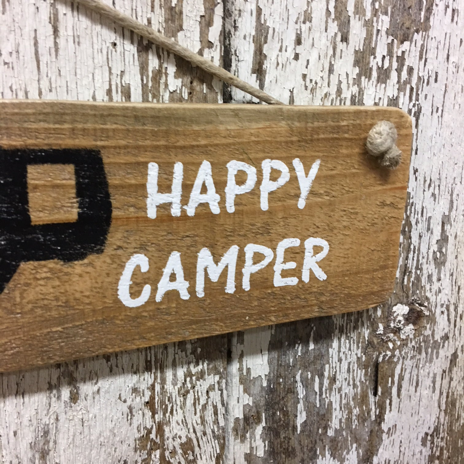happy camper signs 5th wheel sign made from reclaimed wood