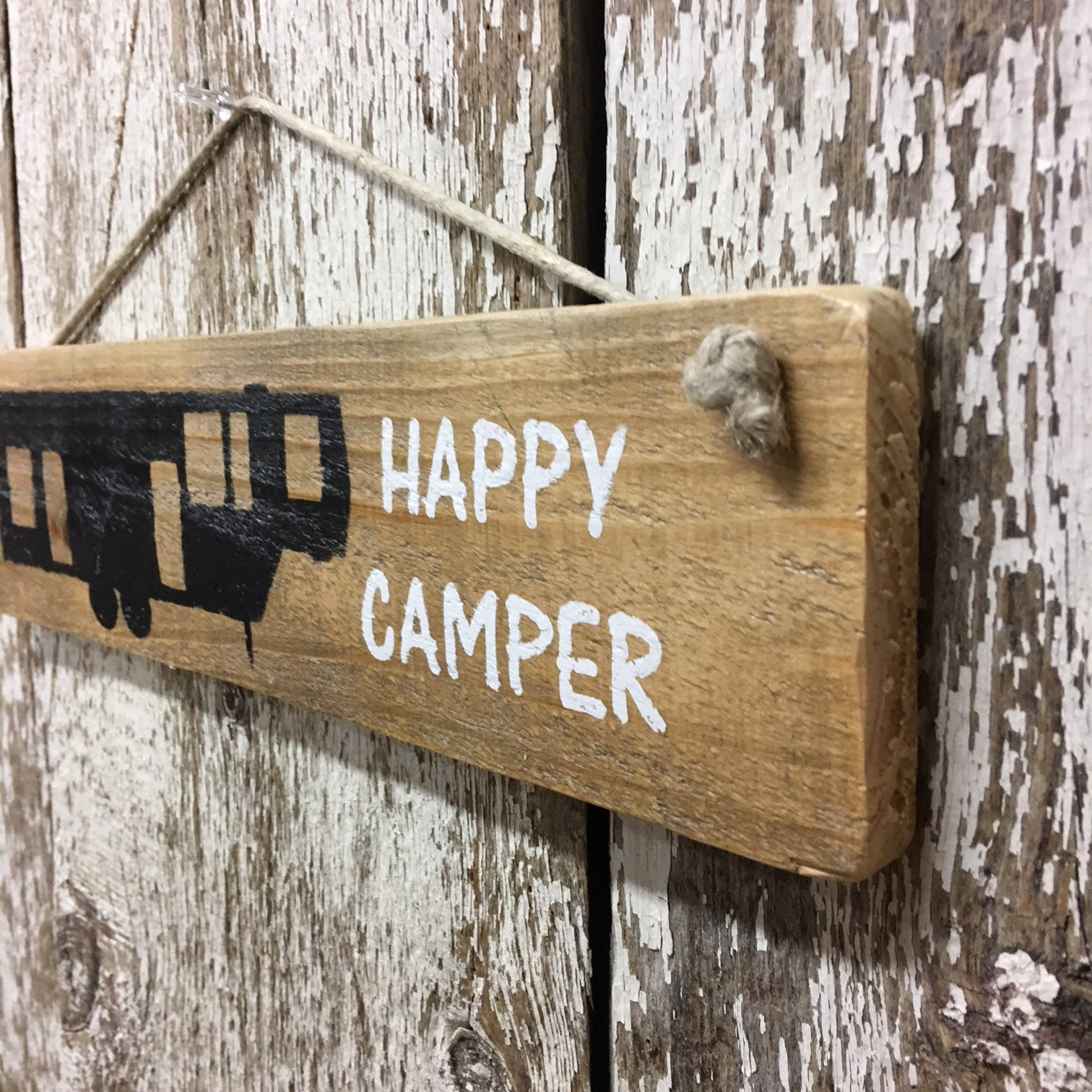 camping decor 5th wheel camper black and white wood sign