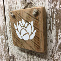 lotus flower decor and gift idea Buddha Hindu Yoga rebirth sign