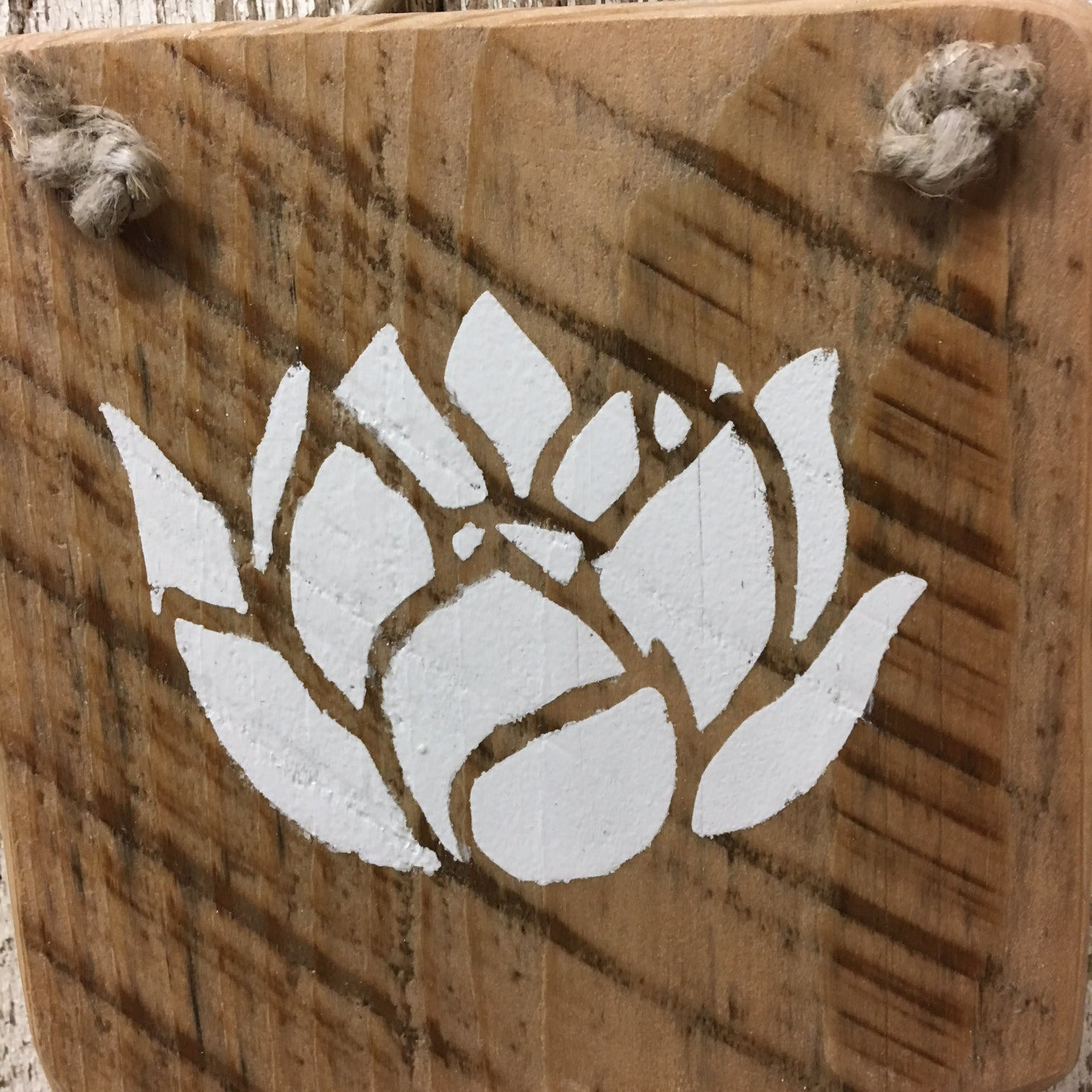 lotus flower gift idea reclaimed wood sign rebirth enlightenment
