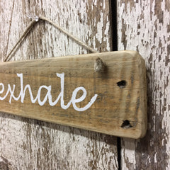 yoga signs exhale wood sign gift ideas for yoga lover yogis