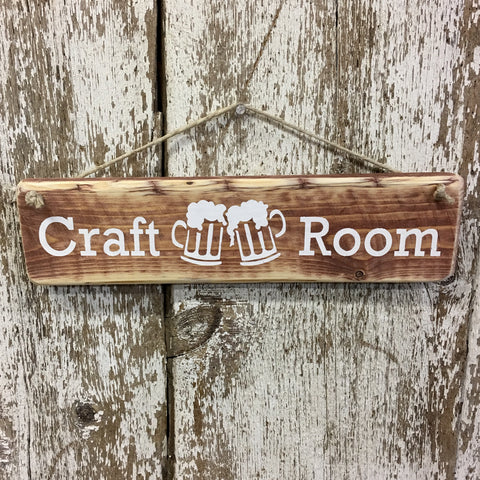 Craft Beer Craft Room Reclaimed Wood Sign
