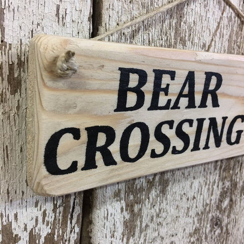 Bear Crossing Black Bear Reclaimed Wood Sign