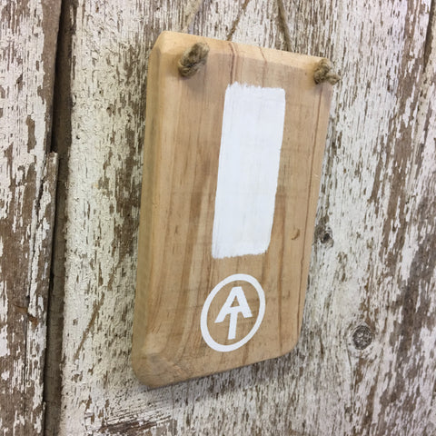 Appalachian Trail White Blaze Reclaimed Wood Sign