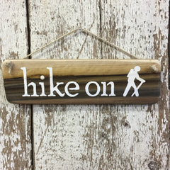 Hiking Gifts under $25 hike on hiker sign