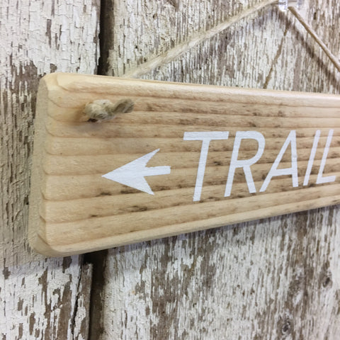 Trail Arrow Reclaimed Wood Sign