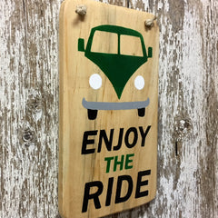 hippie bus hippy bus vw bus decor enjoy the ride wood sign