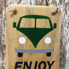 gift ideas for hippie bus theme enjoy the ride vw bus wood sign