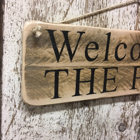 welcome signs wood welcome to the patio sign wooden signs