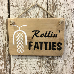 Fat Bike Gift Idea - Rollin Fatties Reclaimed Wood Sign