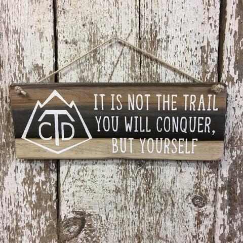 Continental Divide Trail Gift Ideas Reclaimed Wood Sign for Hikers