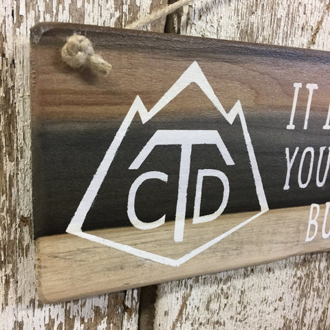 Continental Divide Trail Conquer Reclaimed Wood Sign