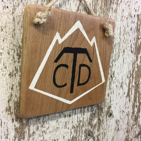 Continental Divide Trail  CDT Shield Reclaimed Wood Sign