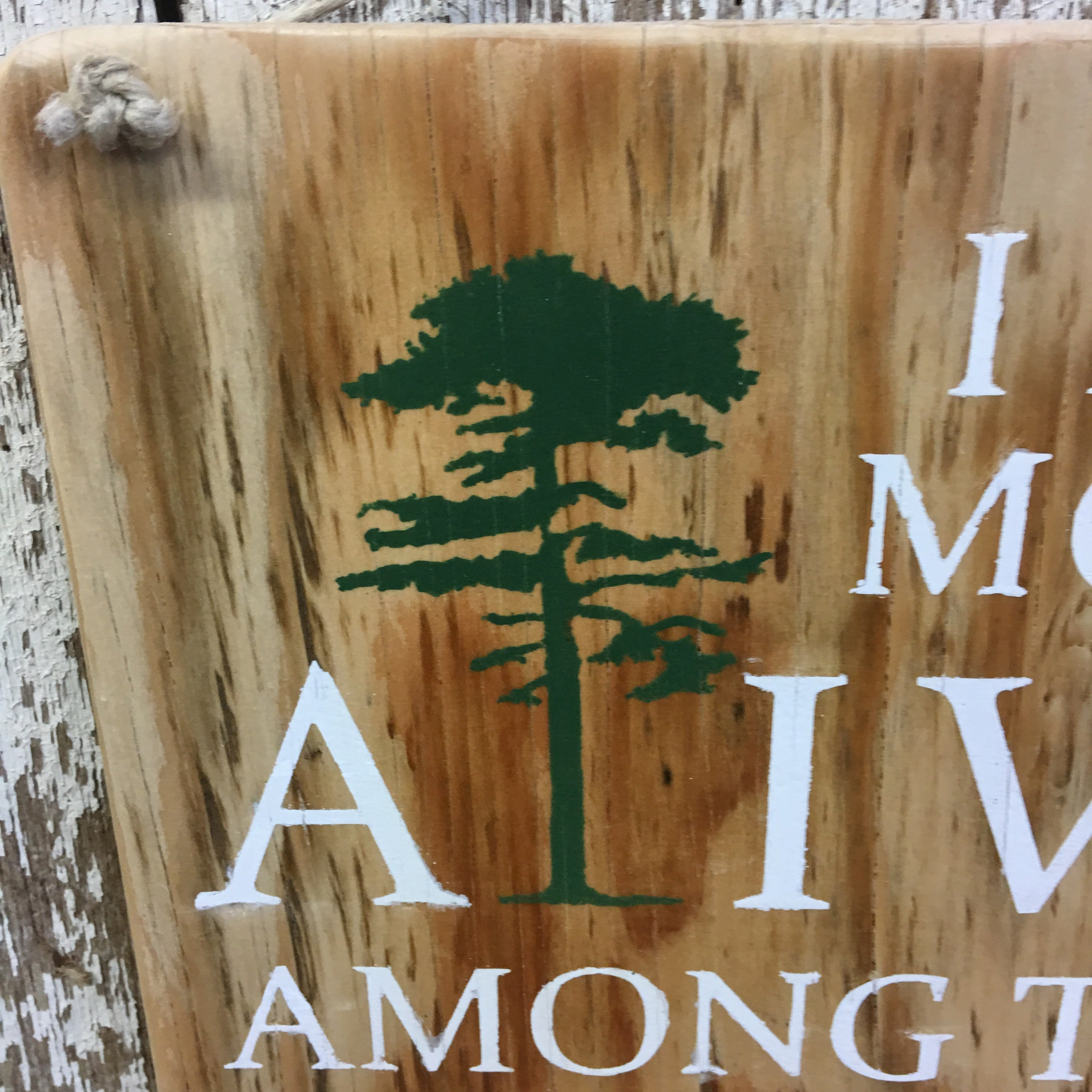 Most Alive Reclaimed Wood Sign