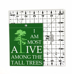 I am most alive among the tall trees Vinyl Decal - Window Sticker