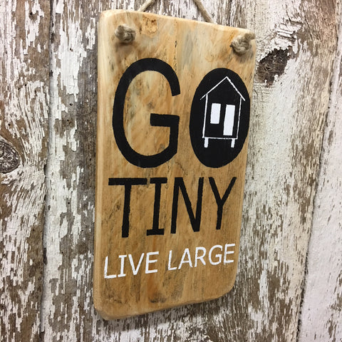 tiny house sign gifts decor go tiny live large gift ideas for tiny home