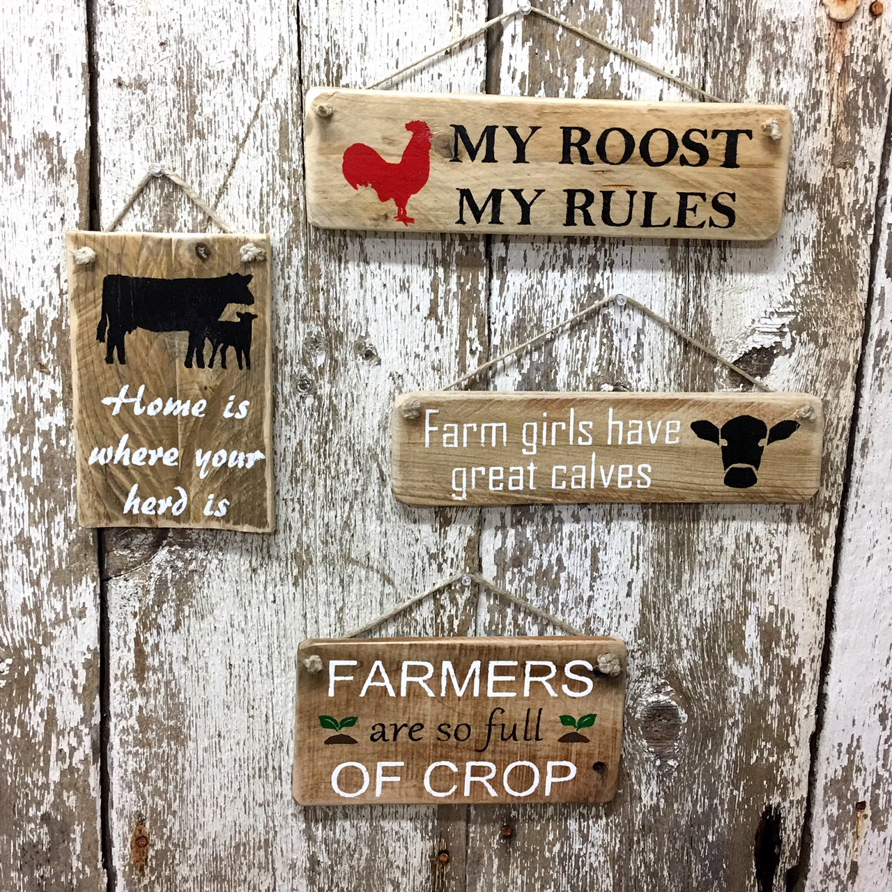 farmer signs - farmers are so full of crop - reclaimed wood sign