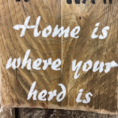 farm life signs farmers sign home is where your herd is gifts decor