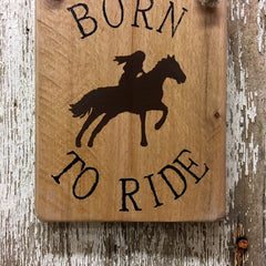 horse themed gift ideas and decor born to ride female wood signs